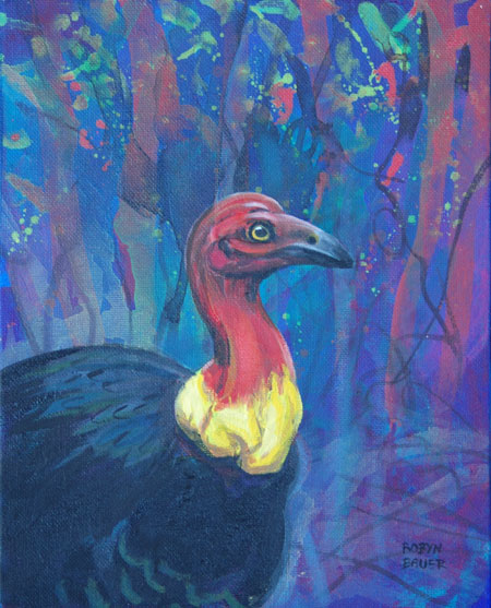 Clustered Around by all her Starry Fays - Discovery Specimen 6 - Scrub Turkey